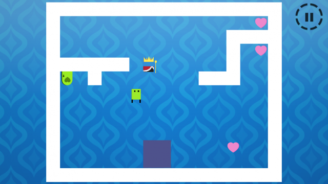 You'll fall in love with Fallin Love, a challenging gravity-defying puzzle game