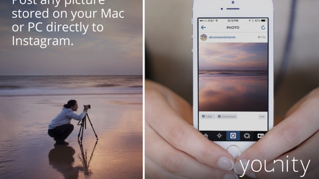 Younity makes it easier to post your computer photos to Instagram