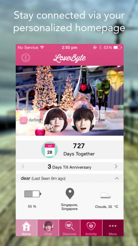 LoveByte 2.0 offers new design and more features for couples in love