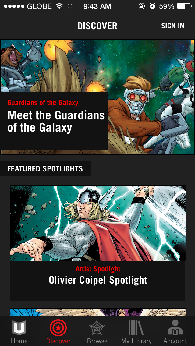 Marvel Unlimited for iOS invites you to discover your next favorite Marvel comics
