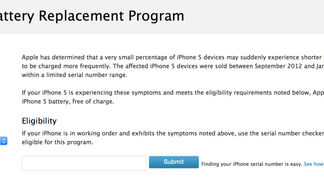 Apple launches a battery replacement program for its iPhone 5 handset