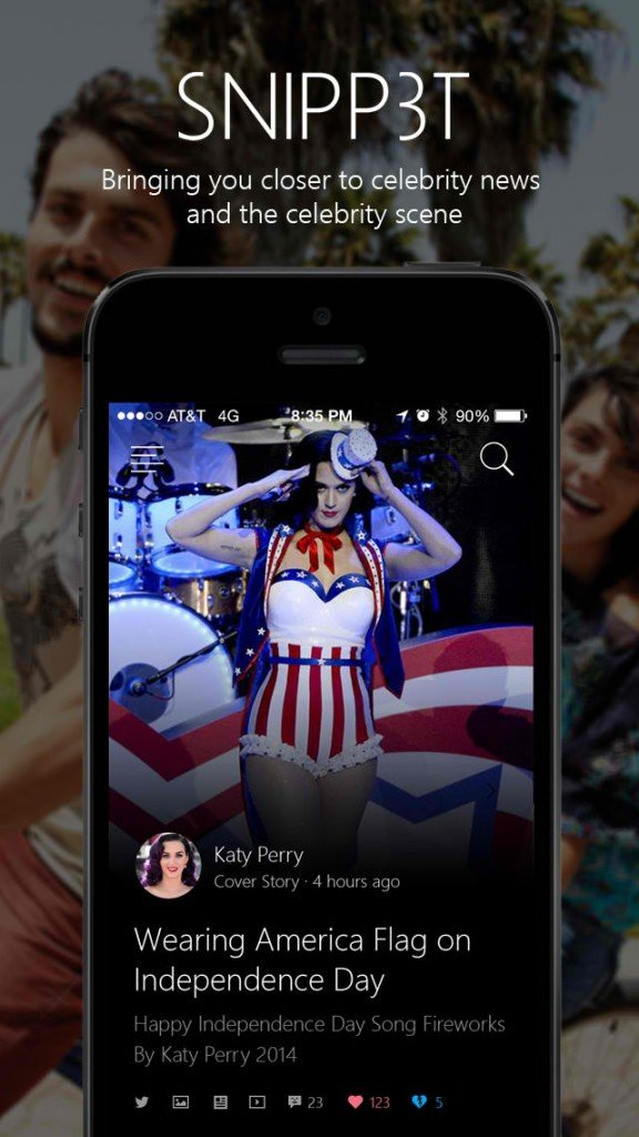 Microsoft's new Snipp3t app brings you the latest about your favorite celebrities