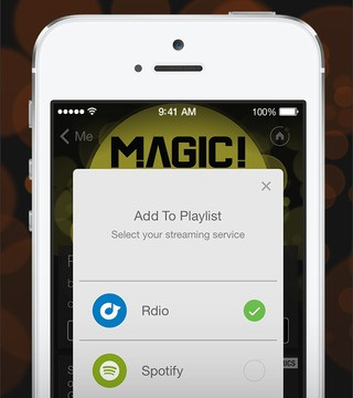 Just like Shazam, SoundHound now features integration with Rdio