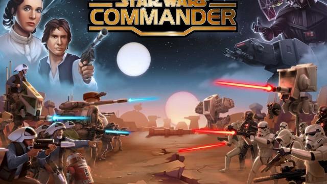 Disney's Star Wars: Commander features Luke Skywalker and Darth Vader