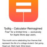 Download the 'reimagined' calculator app Tydlig now for free via the Apple Store app