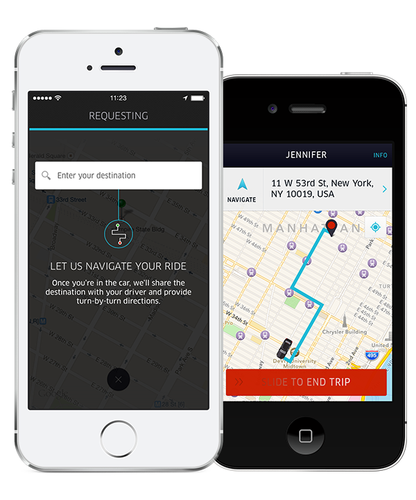 Uber updated with destination entry for riders and turn-by-turn navigation for drivers