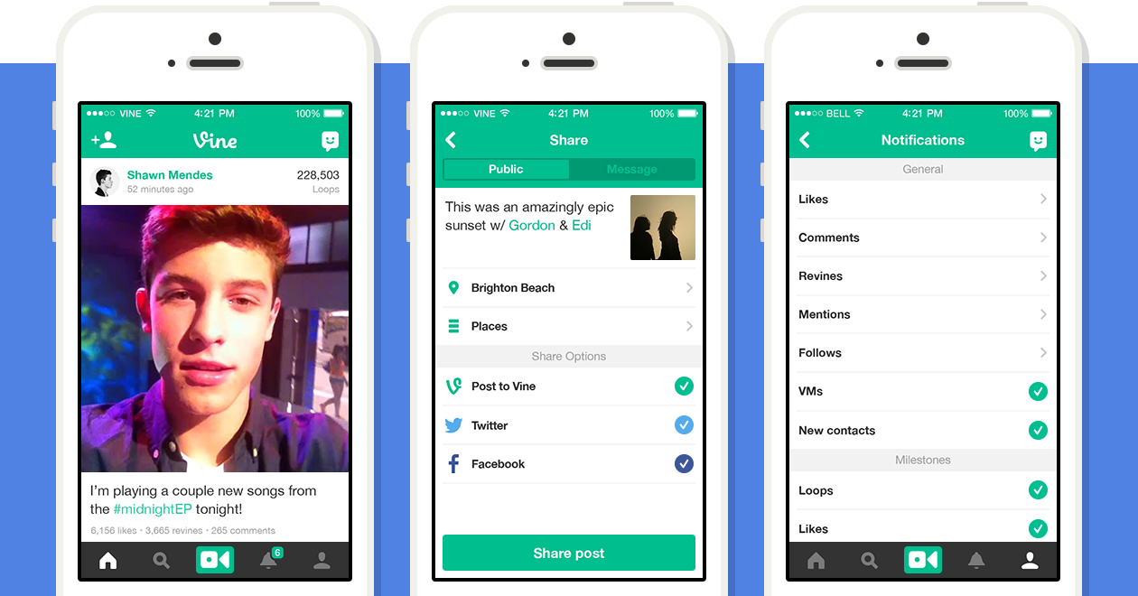 Twitter's Vine updated with improved notifications, new share screen and more