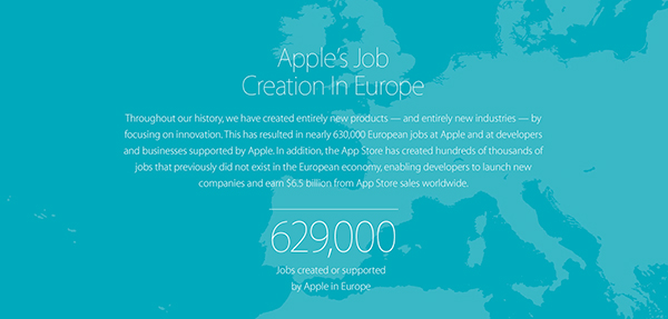 Apple says the App Store has created almost 500,000 European jobs