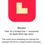 Wind down with Bicolor, which can be downloaded now for free via the Apple Store app