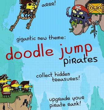 Classic iOS game Doodle Jump updated with a new pirates theme