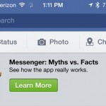 After Messenger backlash, Facebook responds through its main iPhone app