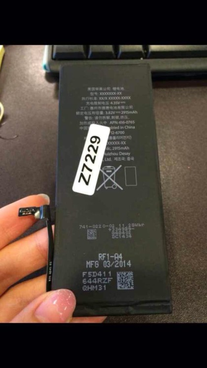 Apple's 5.5-inch 'iPhone 6' may come equipped with a 2,915 mAh battery