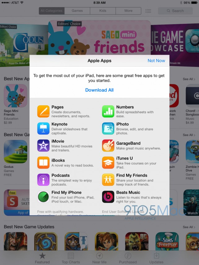 apple is encouraging first time app store visitors to download the beats music app appadvice. Black Bedroom Furniture Sets. Home Design Ideas