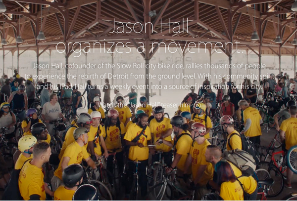 New Apple 'Your Verse' stories highlight Yaoband and Detroit Slow Roll city bike ride