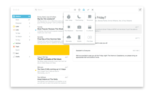 Mailbox for Mac arrives in a public beta version