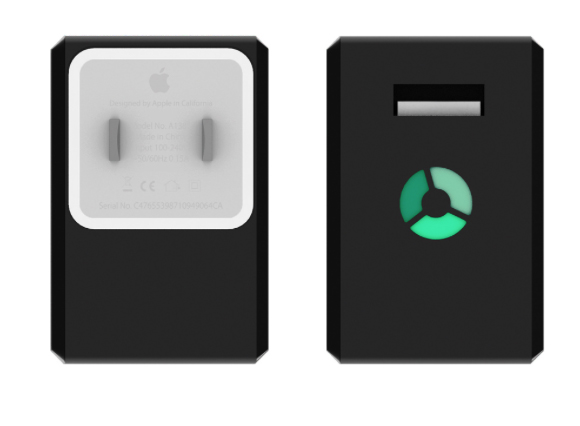 The NomadPlus adds an external battery pack to your Apple USB wall charger