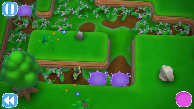 Guide Ive through the twisted green mazes of puzzle game Poison Ive