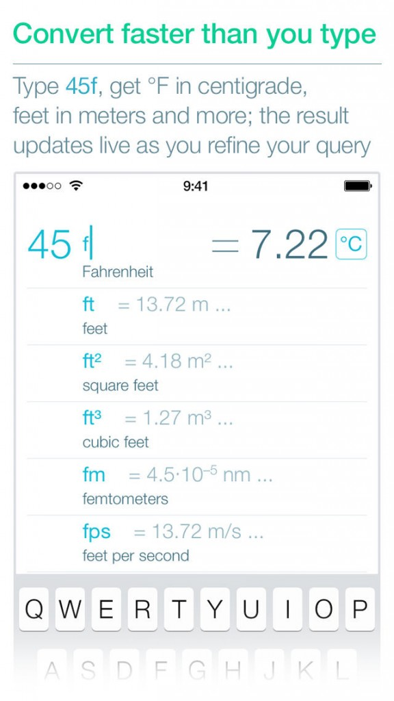 Get lightning fast conversions with Ångström on your iPhone