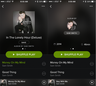 Spotify for iOS adds a new album tool, Finnish language support