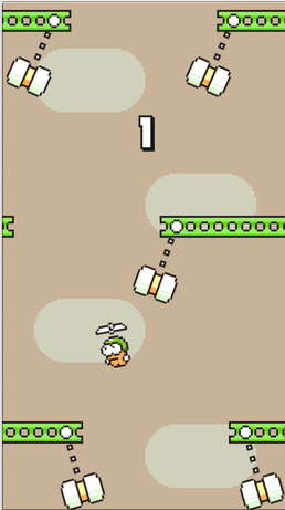 Flappy Bird developer's new game, Swing Copters, gets a bit easier with an update
