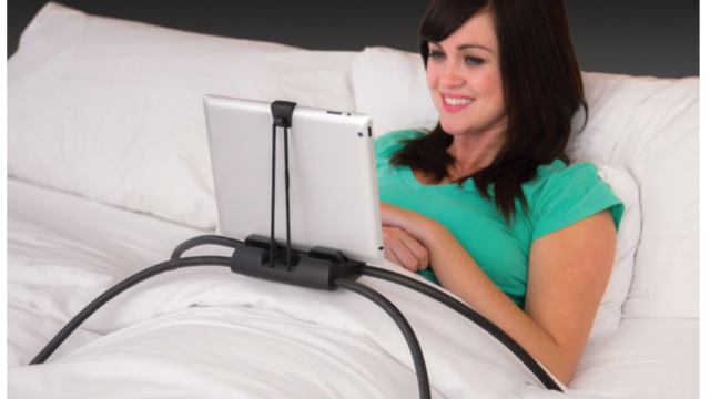 With Tablift you can use an iPad hands-free anywhere in your home