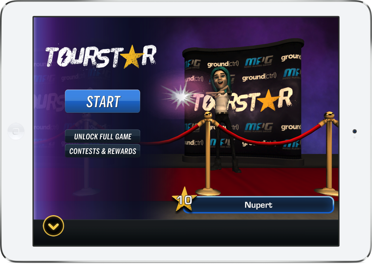Become a TourStar in this music simulation game and win real world prizes