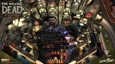 A table inspired by Walking Dead: The Game will arrive in Zen Pinball later this month