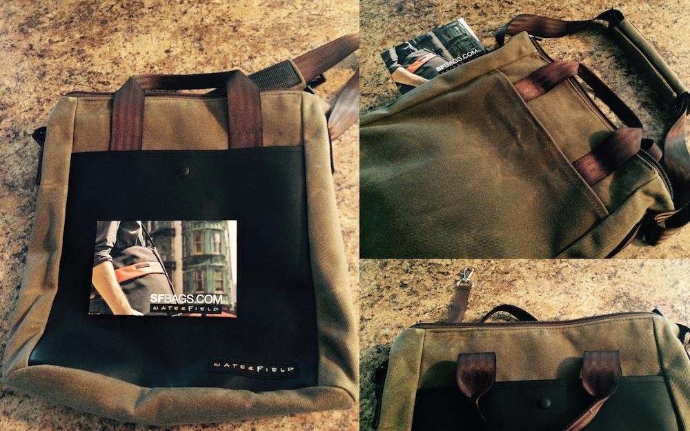 Actual bag we're giving away