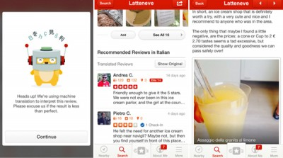 Yelp's iPhone app can now automatically translate reviews from different languages