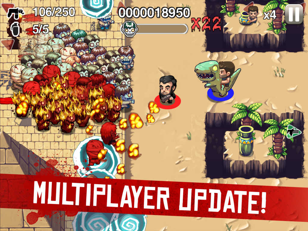 Halfbrick kicks off Zombie Month for Age of Zombies with new multiplayer update