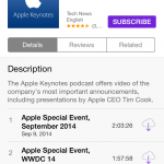 You can now download the iPhone 6 and Apple Watch keynote from iTunes