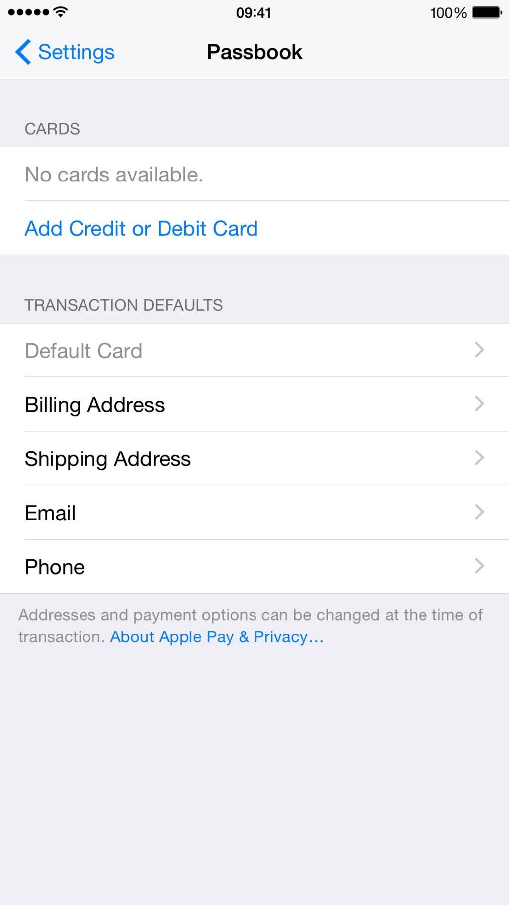 Apple Pay settings and reference to Touch ID on iPad found in iOS 8.1 beta