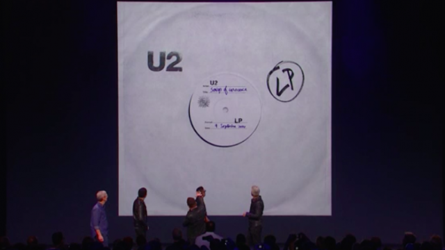 Apple and U2 make history at iPhone 6 event with 'largest album release of all time'