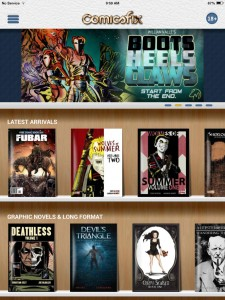 Comicsfix home screen