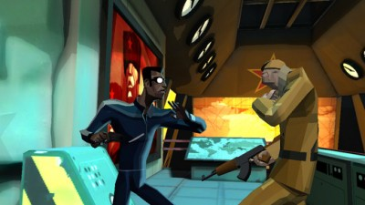 In the side-scrolling CounterSpy, stealth is the name of the game