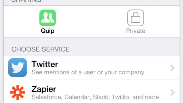 Quip gets connected, launches 'Integrations' for services including Twitter, Dropbox