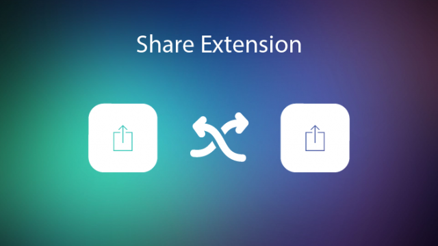 Apps with Share extensions for iOS 8