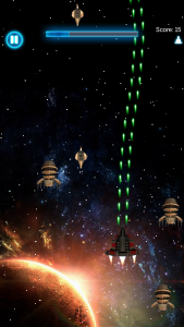Are you skilled enough to fend off hordes of invading aliens? Find out in Orbital Wars