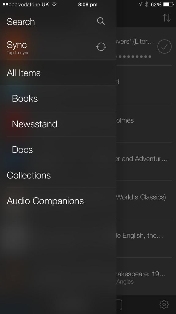 Kindle for iOS.