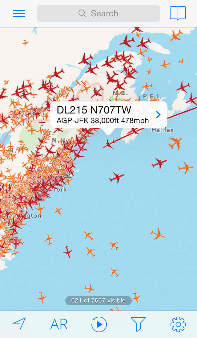 Popular flight-tracking app Plane Finder updated with new playback feature