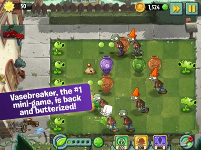 Get cracking as the 'butter than ever' Vasebreaker comes to Plants vs. Zombies 2
