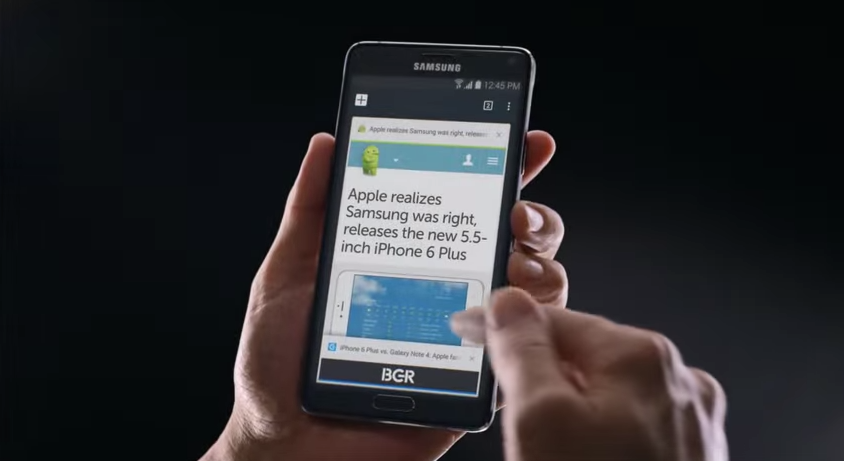 Samsung's new Galaxy Note 4 ad calls Apple's iPhone 6 Plus an imitation
