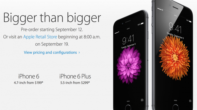 Preorders now available for the iPhone 6 and iPhone 6 Plus