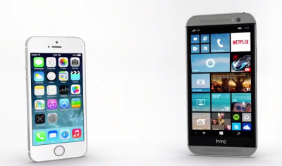 New Microsoft ad features Cortana on HTC One (M8) face to face with Siri on iPhone 5s