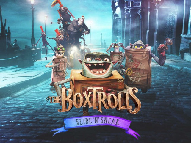 Slide and sneak with the Boxtrolls in this side-scrolling action adventure game