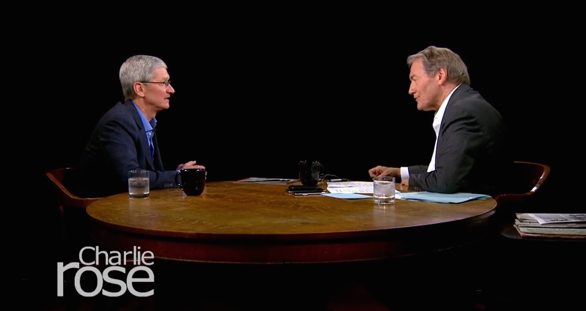 Apple CEO Tim Cook talks with Charlie Rose about Apple TV, Beats, Steve Jobs and more