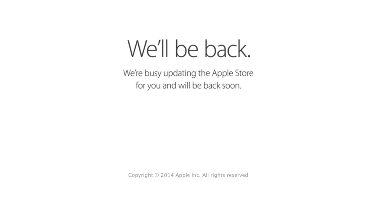 Apple's online store goes offline ahead of 'iPhone 6' launch event