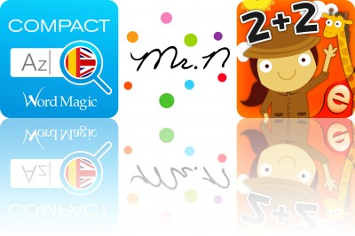 Today's apps gone free: Compact English-Spanish Dictionary, Super Games and Animal Math Games for Kids