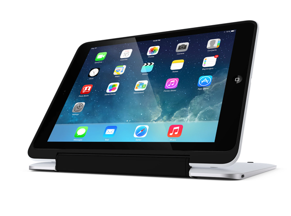 Along with a keyboard, users can take advantage of two other modes to place the iPad Air.