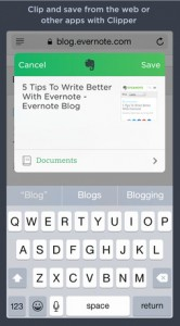Evernote update for iOS 8 brings Web clipping, Touch ID unlock and more